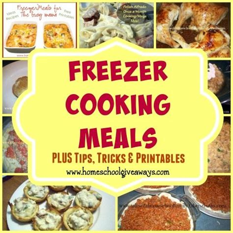 printable dinner recipes freezer meal cooking recipes free printables