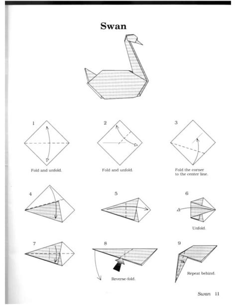 How To Make Swan Paper - 1000 ideas about origami swan on origami