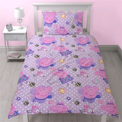 peppa pig bedding set peppa pig happy single duvet cover set reversible new