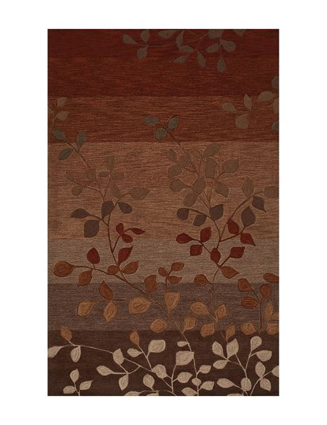 dalyn rugs stores dalyn rugs studio plush collection paprika earth tone leaf print area rug stage stores