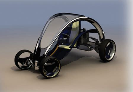 Simple Electric Car Design Individual Car Concept With Personality Green