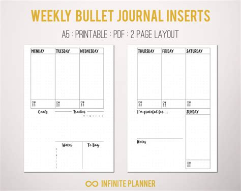 the 2018 author s journal your comprehensive guide to a wildly successful year of authorship comprehensive planners for creatives and entrepreneurs books a5 weekly layout on 2 pages bullet journal printable