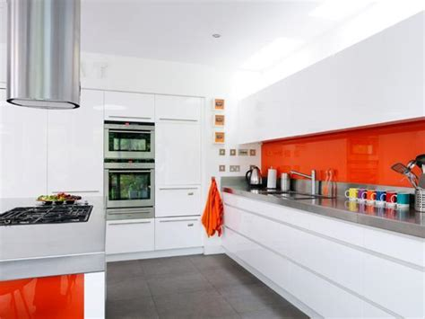 orange and white kitchen ideas orange kitchen colors 20 modern kitchen design and
