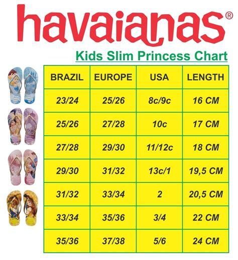 Size Chart Sandal Boho Dewasa havaianas size chart cm havaianas top soft lilac bra 35