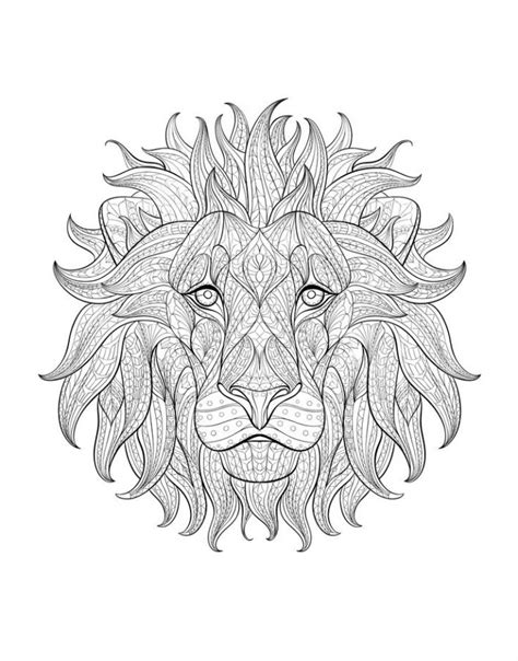hard lion coloring pages 316 best animal coloring pages images on pinterest