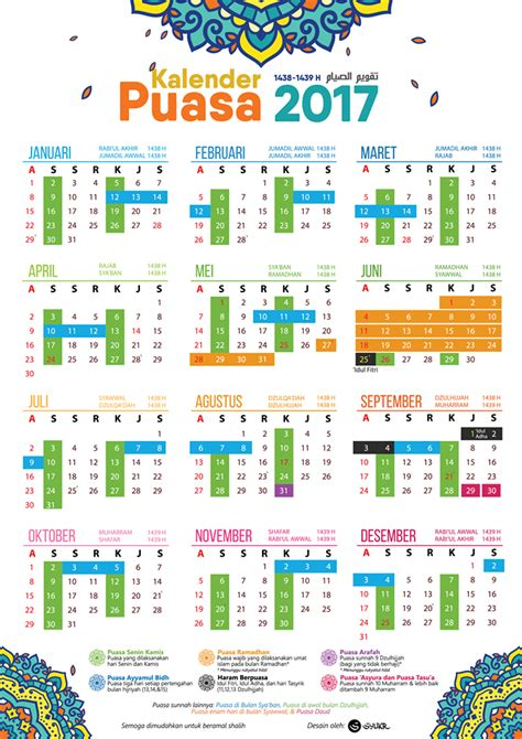 Kalendar 2018 Raya Puasa Gratis Downlaod Kalender Puasa 2017 By Syukr Hello Hijabers