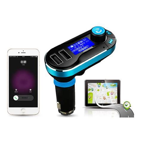 Bluetooth Wireless Call Car Kit For Dual Smartphonetablet bt66 wireless bluetooth car kit usb car charger blue