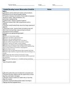 guided reading look fors