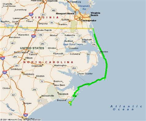 map of outer banks nc map of nc outer banks k k club 2017