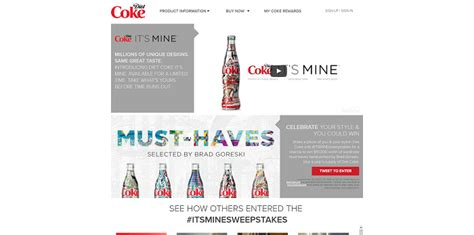 Diet Coke Sweepstakes - diet coke itsminesweepstakes