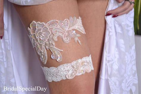 Handmade Wedding Garter - wedding garter pink bridal garter pearl garter handknitted