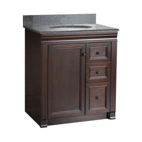 bathroom vanity with drawers on left side foremost 30 in single bathroom vanity with left