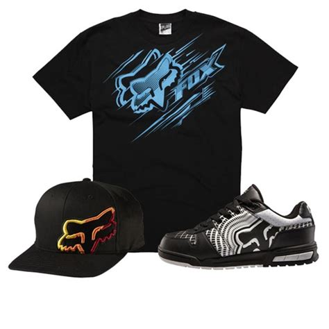Tshirt Fox Racing Black Gildanshop fox racing t shirt hat and shoes package