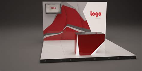 3d booth design template 3d creative booth design 4m model
