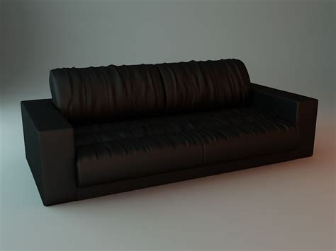 soft leather sofa 3d model max obj 3ds fbx cgtrader com