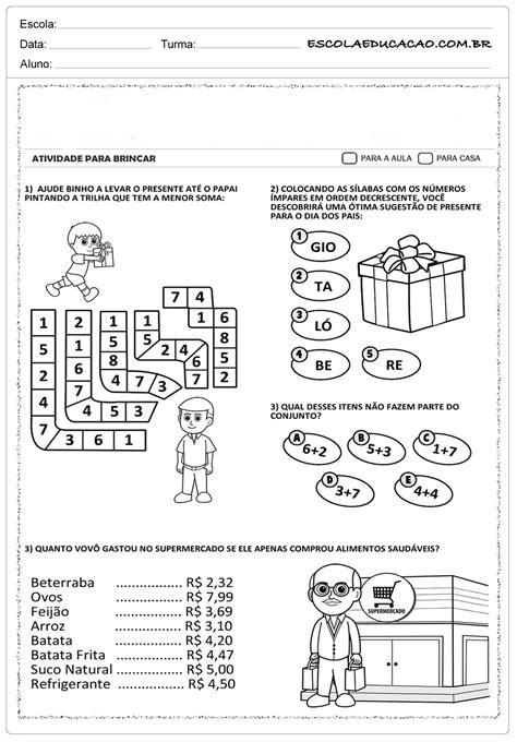 Atividade Dia dos Pais Ensino Fundamental - Atividades
