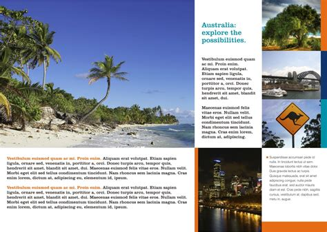 template brochure corel draw x4 tourism australia brochure page 2 coreldraw graphics