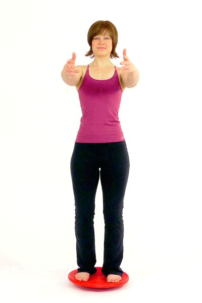 rotation standing on the balance board this exercise is a great way to challenge