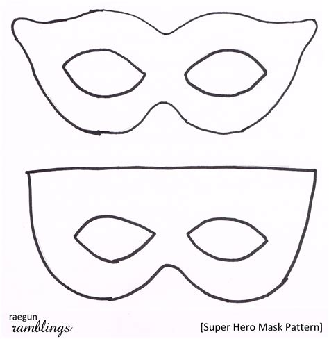 printable mask template free super hero mask pattern and tutorial rae gun ramblings