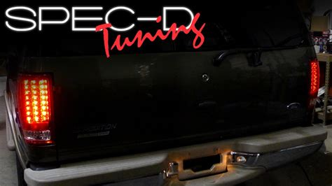 2002 ford excursion tail lights specdtuning installation video 1997 2002 ford