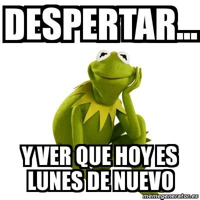 imagenes memes lunes meme kermit the frog despertar y ver que hoy es lunes