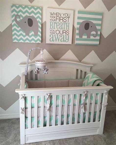 Gray Elephant Nursery Decor Best 25 Mint Baby Nurseries Ideas On Pinterest Nursery Themes Baby Room Themes And