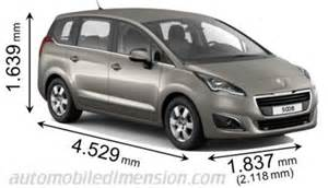 Peugeot 5008 Dimensions Image Gallery Peugeot 5008 Specifications