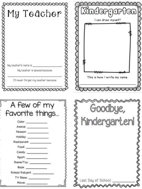 printable memory book template thehappyteacher kindergarten memory book