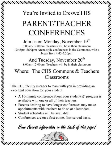 parent flyer templates parent conference flyer template yourweek