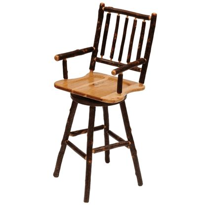 Fireside Lodge Bar Stools by Fireside Lodge Hickory Log Bar Stool With Arms Swivel