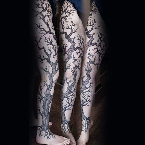 leg tree tattoo designs 75 tree sleeve designs for ink ideas with