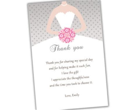 bridal shower thank you card wording not attending rectangular shape bridal shower thank you card wording simple ideas grey colorbackground with
