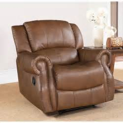 Ashley Leather Reclining Sofa by Abbyson Living Calabasas Mesa Camel Leather Recliner
