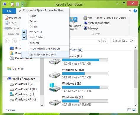 resetting windows explorer reset quick access toolbar for file explorer in windows 8