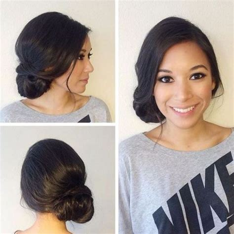 loose buns for chin to shoulder length hair best 25 loose side buns ideas on pinterest loose bun