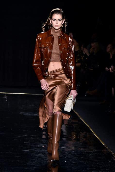 kaia gerber shows kaia gerber versace pre fall 2019 fashion show in nyc