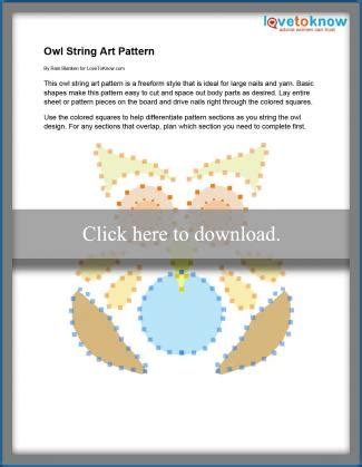 String Owl Template - free string patterns lovetoknow