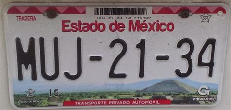 Placas Del Estado De Mexico | placas de autos de m 233 xico y otras cos 999 as nueva placa