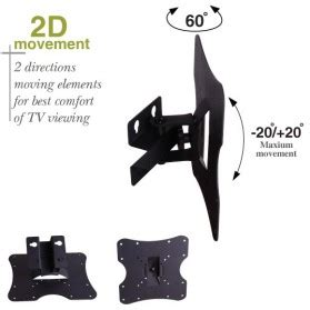 Telescopic Tv Bracket 2mm Thick 200 X 200 Pitch For 17 Best Seller tv bracket 1mm thick 200 x 200 pitch for 14 37 inch tv