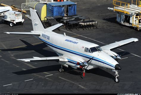 beech c99 airliner aircraft picture ameriflight seattle boeing field king county
