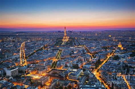 paris images paris france at sunset photograph by michal bednarek