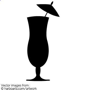 cocktail silhouette cocktail silhouette vector pixshark com images