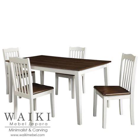 Meja Makan Coin Mebel Jepara Meja Makan 4 Kursi kombinasi warna cat rumah kayu jati home design idea