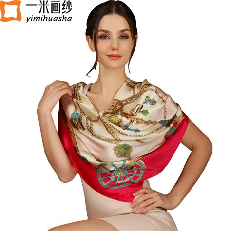 Pretty Scarves For by 2016 Vintage Style Luxury Brand Designer Large Square