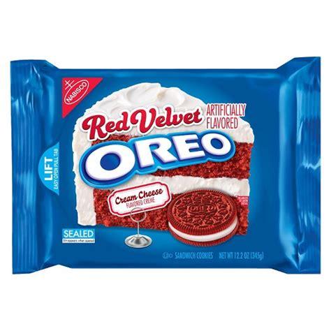 Oreo Thins Vanila Flavour 95g oreo velvet sandwich cookies 12 2oz target