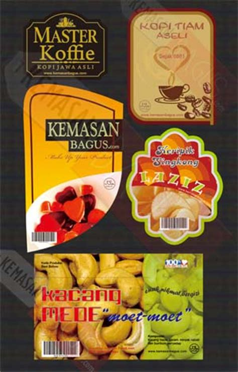 design label makanan sticker kemasan kemasanbagus com