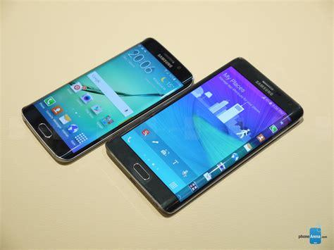 Samsung S6 Note Samsung Galaxy S6 Edge Vs Galaxy Note Edge Look