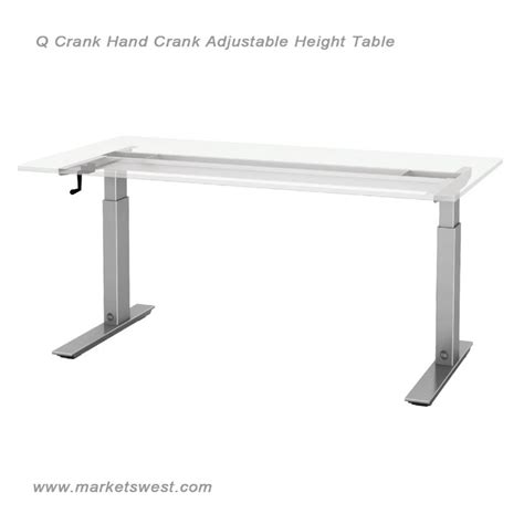 Esi Q Crank Adjustable Height Table Hand Crank Adjustable Height Desk Crank