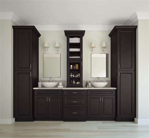 Premade Bathroom Cabinets Dakota Espresso Ready To Assemble Bathroom Vanities