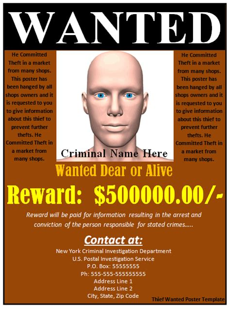 most wanted template poster 29 free wanted poster templates fbi and west